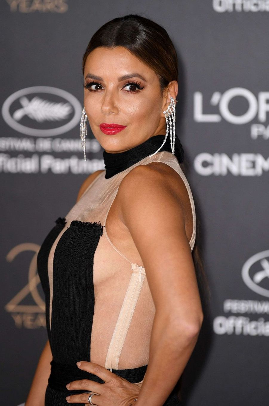 Eva Longoria au festival de Cannes, mai 2017.
