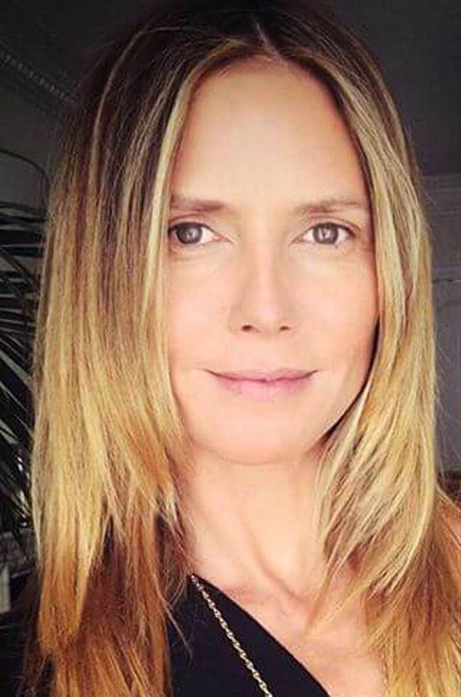 Heidi Klum au naturel.