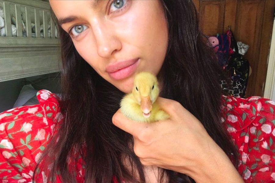 Irina Shayk sans maquillage
