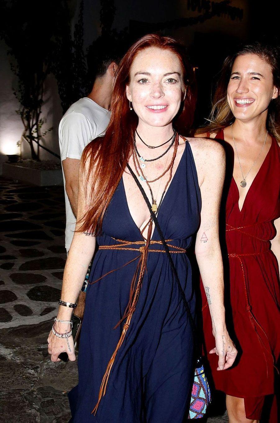 Lindsay Lohan légèrement maquillée