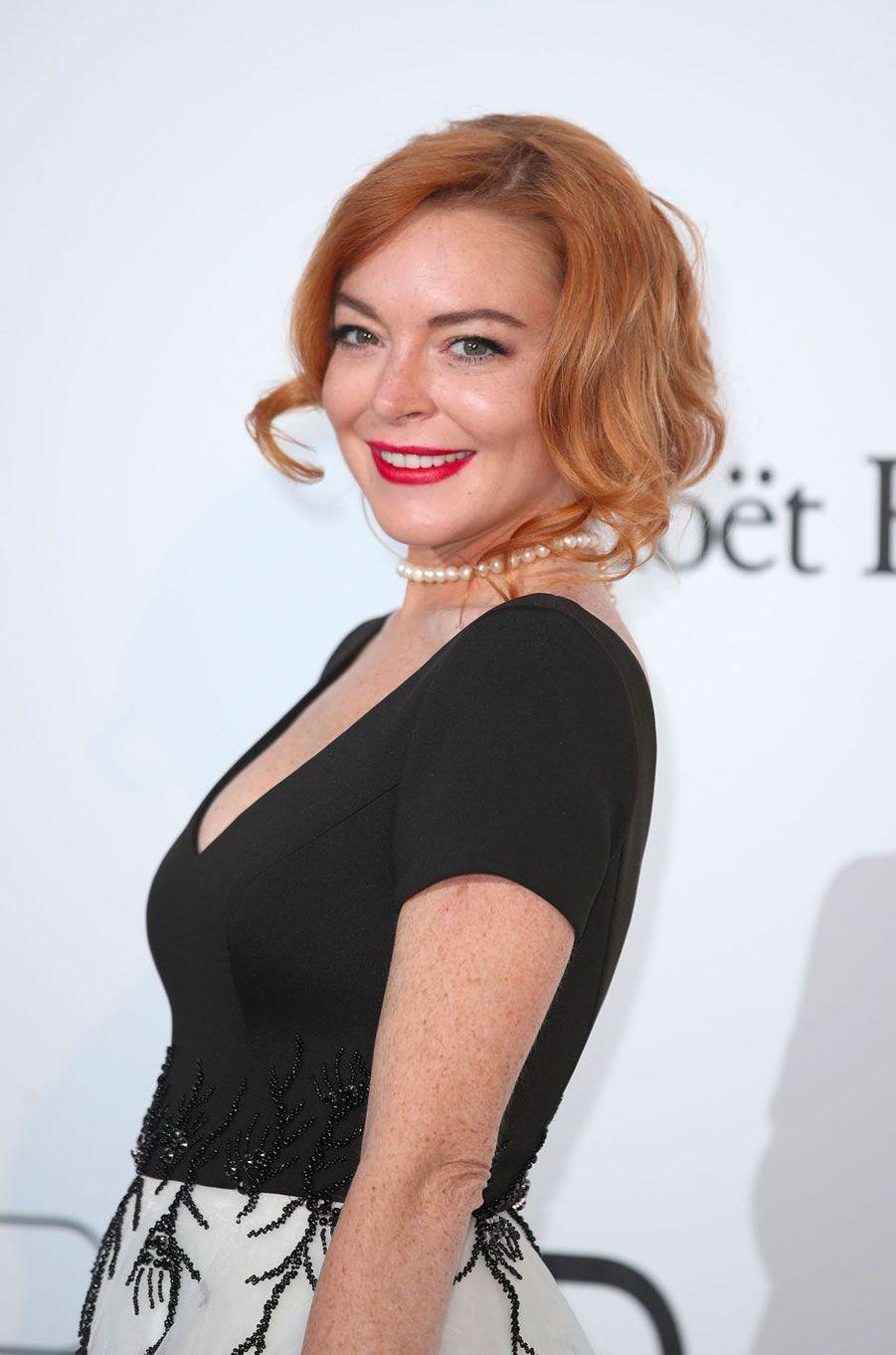 Lindsay Lohan maquillée