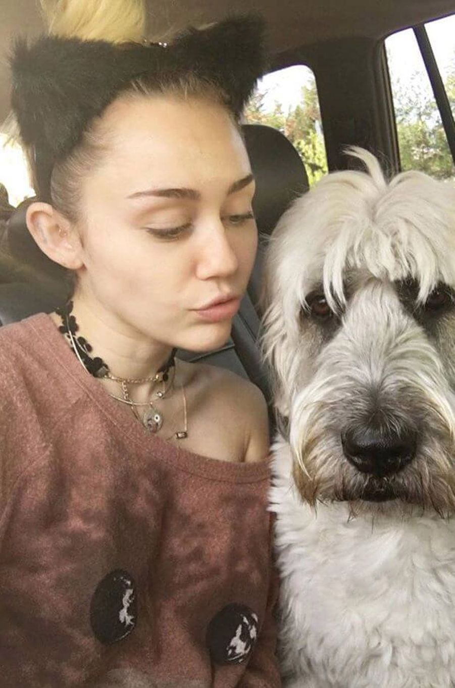 Miley Cyrus sans maquillage.