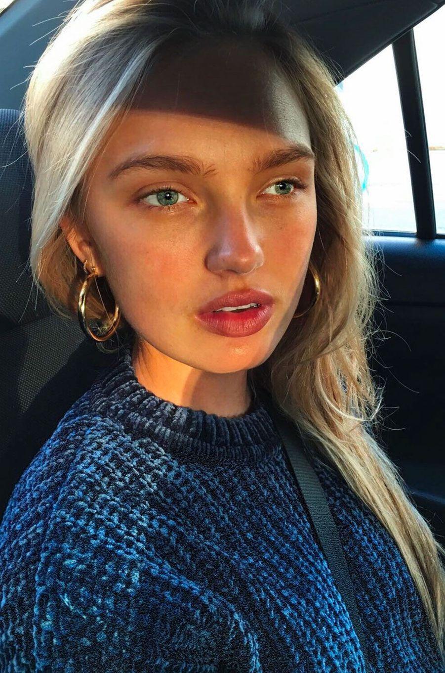 Stars sans maquillage : Romee Strijd avant / après