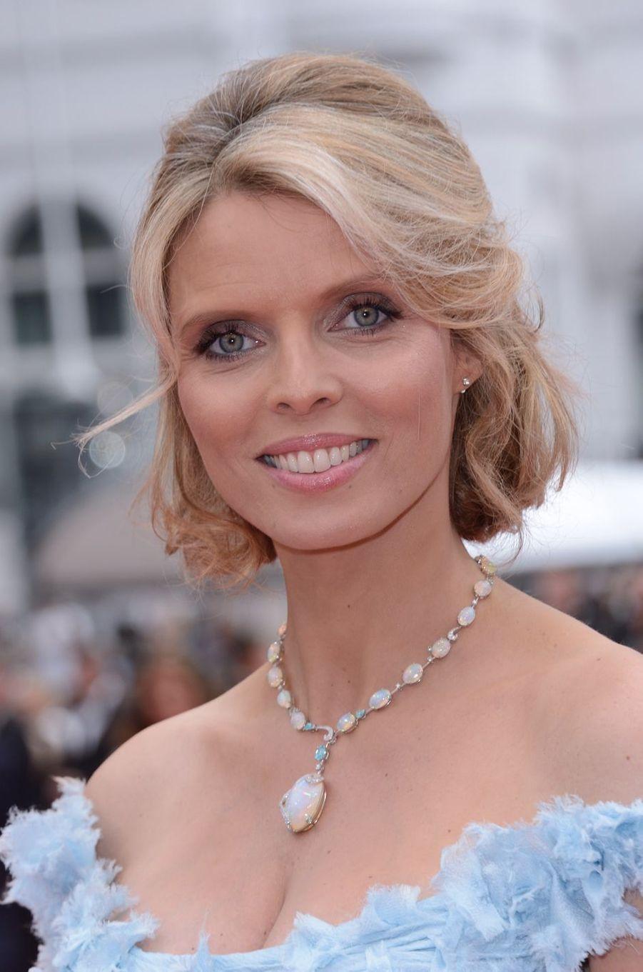 Sylvie Tellier maquillée, au Festival de Cannes en mai 2018