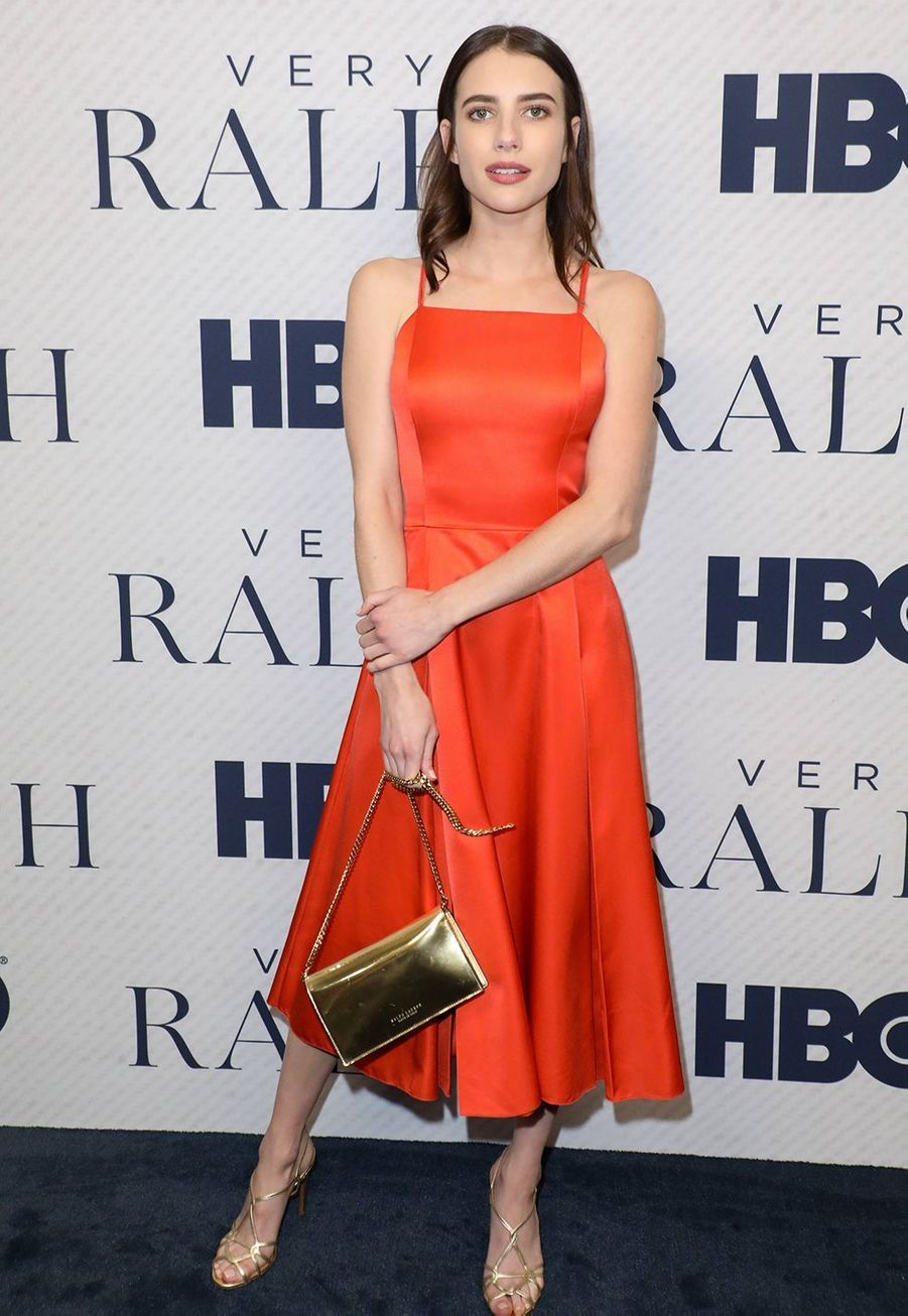 "Emma Roberts à la première du documentaire HBO ""Very Ralph"" à Los Angeles le 11 novembre 2019."