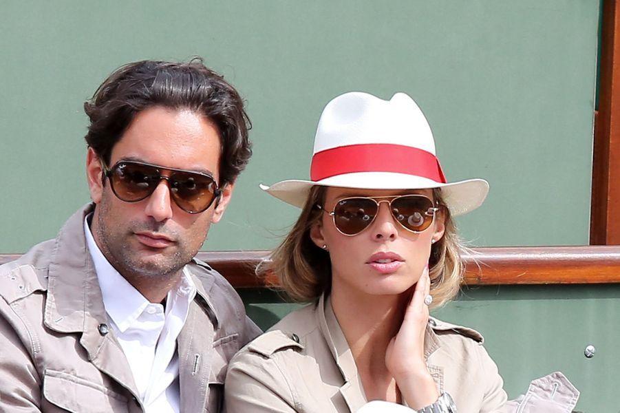 Sylvie Tellier et son compagnon Laurent au tournoi Roland Garros, le 2 juin 2013.