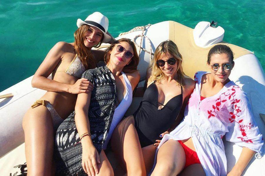 Marine Lorphelin, Rachel Legrain-Trapani, Alexandra Rosenfeld et Camille Cerf en zodiac, en juillet 2017.