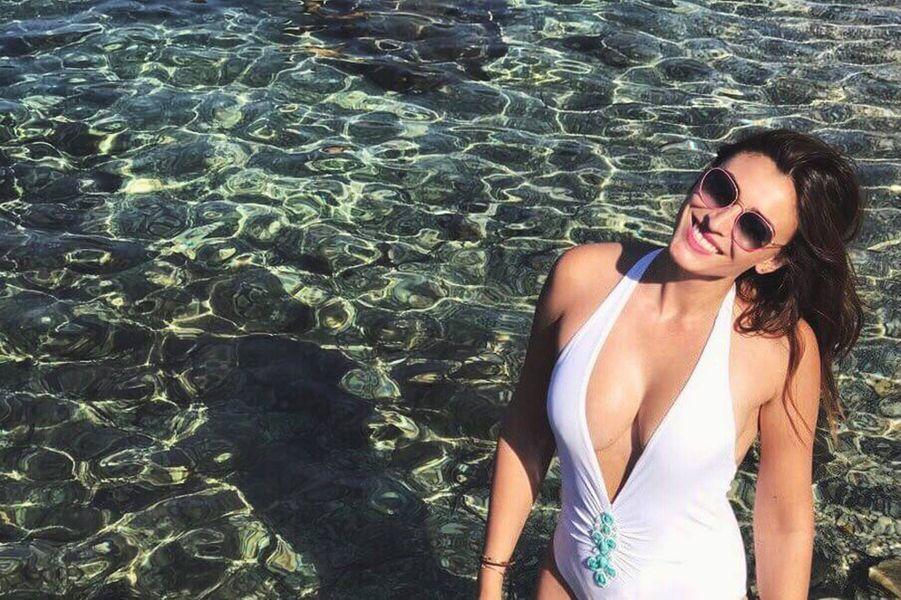 Rachel Legrain-Trapani sur la Côte d'Azur, en juillet 2017.