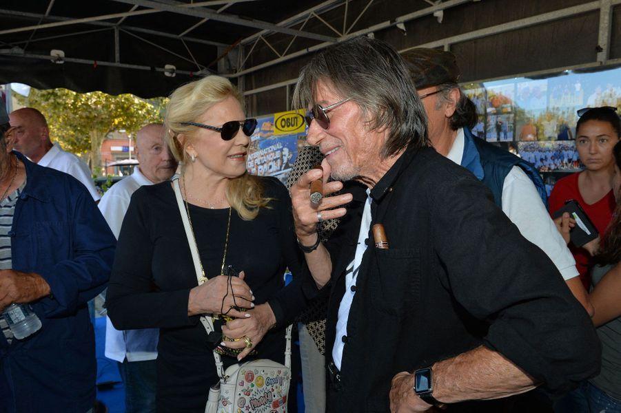 Sylvie Vartan et Jacques Dutronc à l'Ile-Rousse.