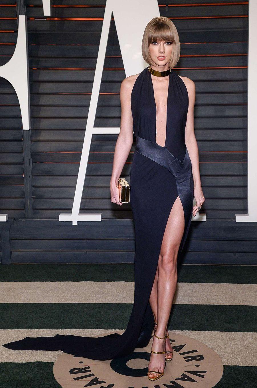 Taylor Swift à la soirée Vanity Fair, février 2016.
