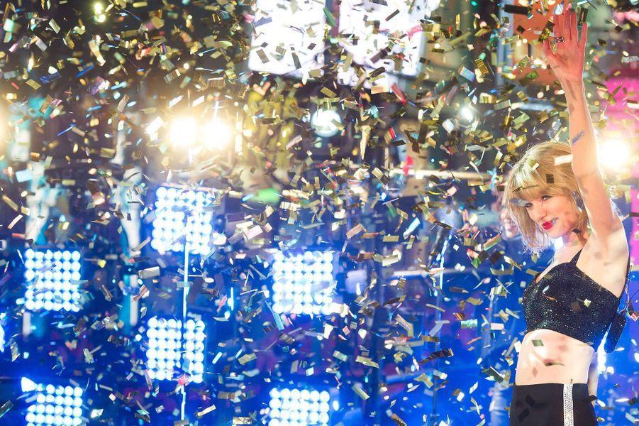Taylor Swift au concert du nouvel an à New York, le 1 er janvier 2015.