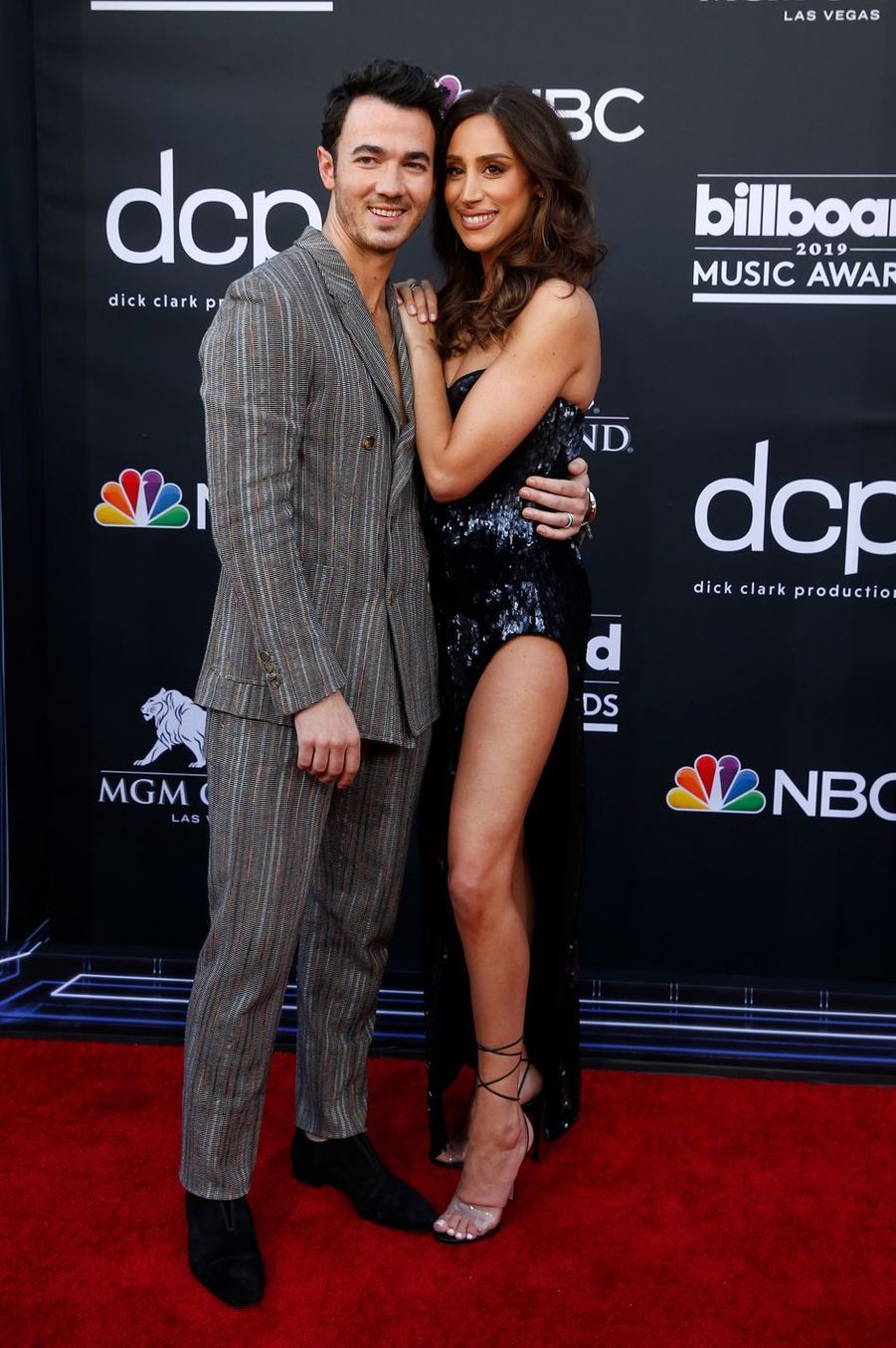 Kevin et Danielle Jonasaux Billboard Music Awards le 1er mai 2019 à Las Vegas