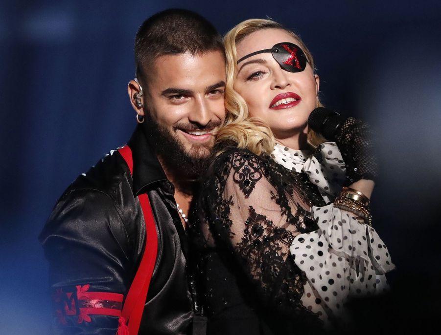 Maluma et Madonnaaux Billboard Music Awards le 1er mai 2019 à Las Vegas