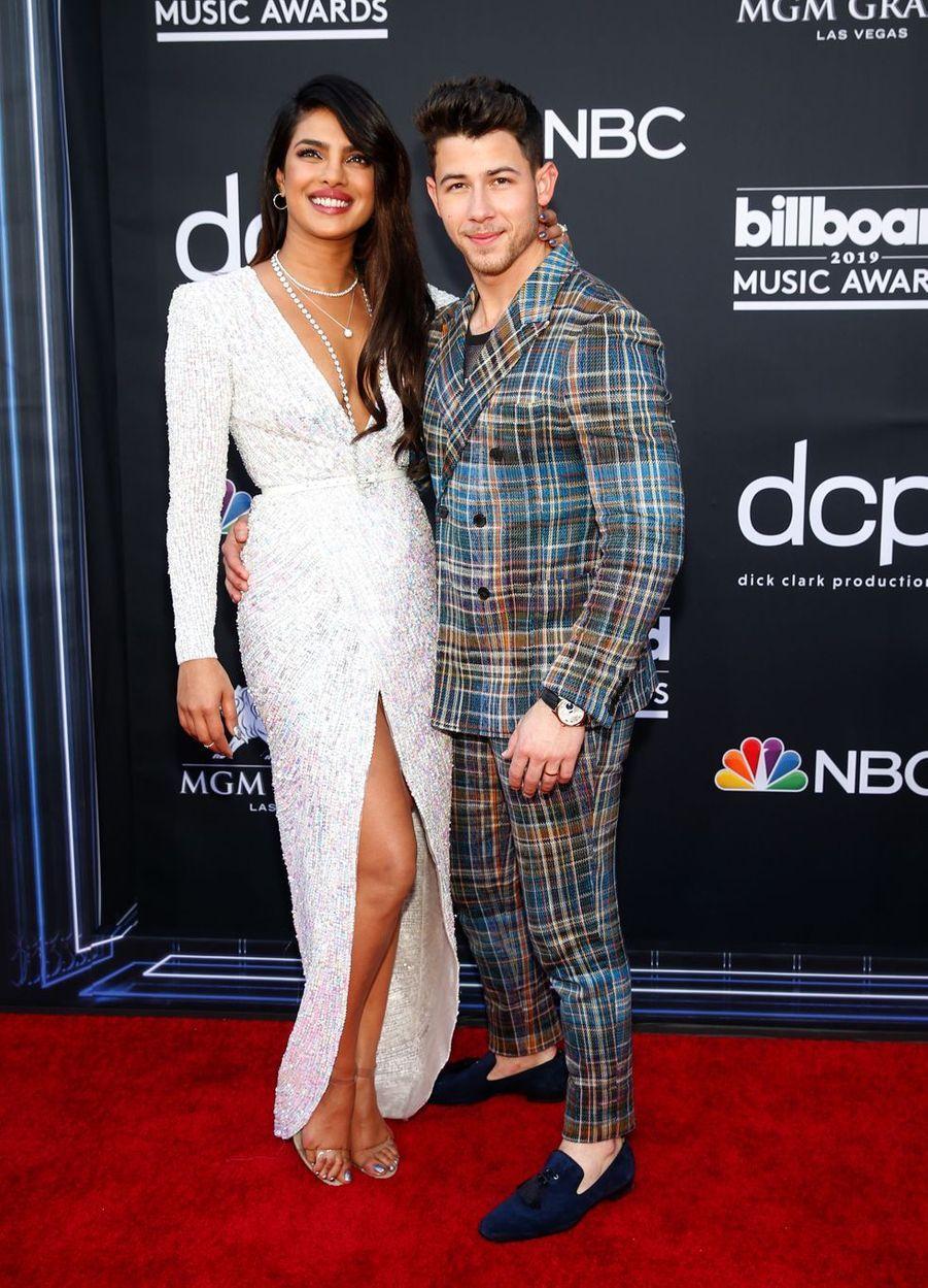 Priyanka Chopra et Nick Jonasaux Billboard Music Awards le 1er mai 2019 à Las Vegas