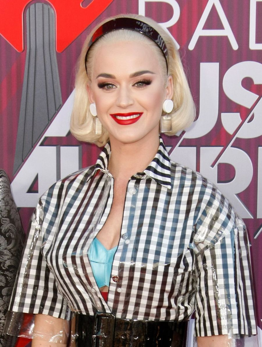 Katy Perry lors des iHeartRadio Music Awards, le jeudi 14 mars 2019