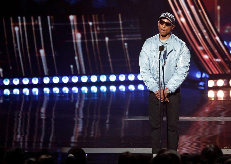Pharrell Williamslors des iHeartRadio Music Awards, le jeudi 14 mars 2019