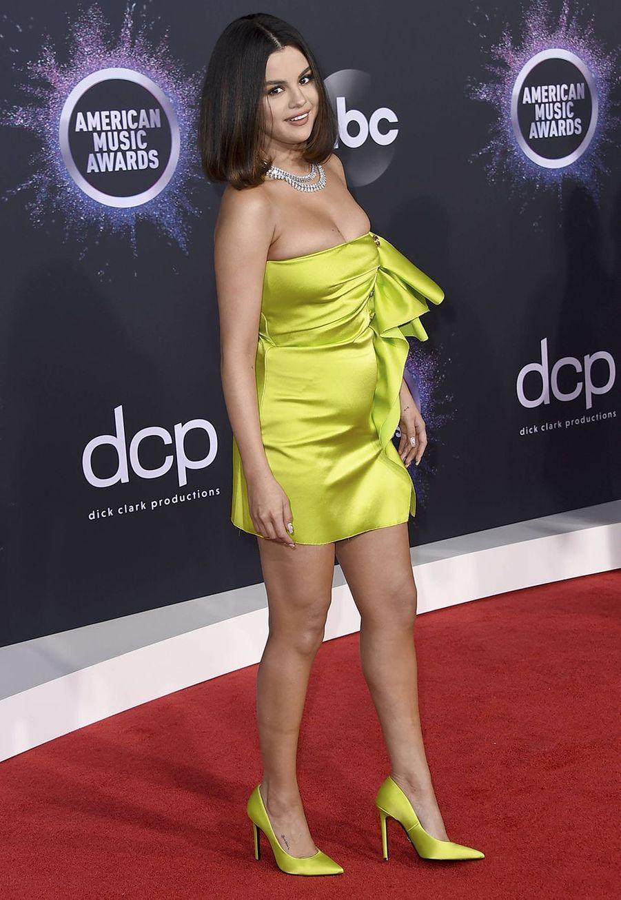 Selena Gomez lors de la cérémonie des American Music Awards dimanche 24 novembre 2019 à Los Angeles.