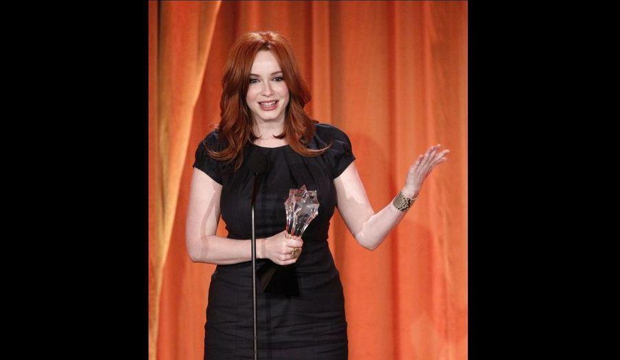 Meilleur actrice dans un second rôle pour un drama, avec Mad Men.