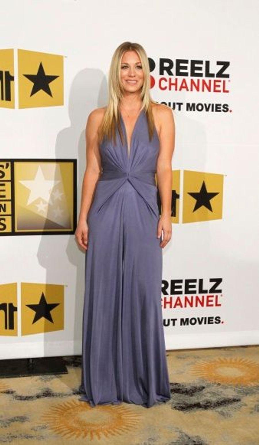 """La star de la série """"Touche pas à mes filles"""" a animé la soirée avec Cat Deeley."""