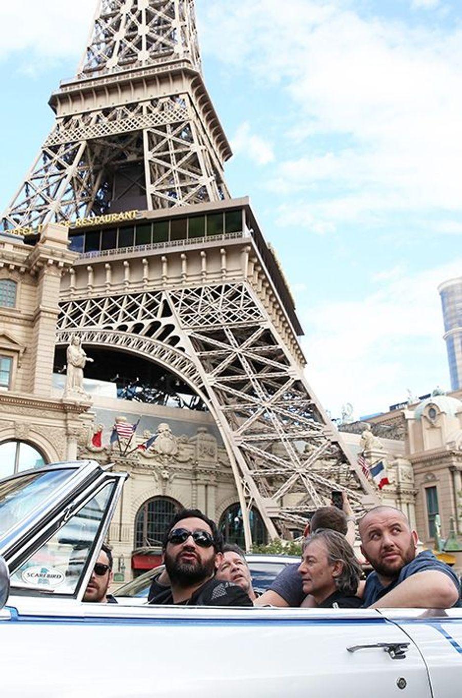 La bande arrive sur le Strip de Vegas, le 31 mars 2016