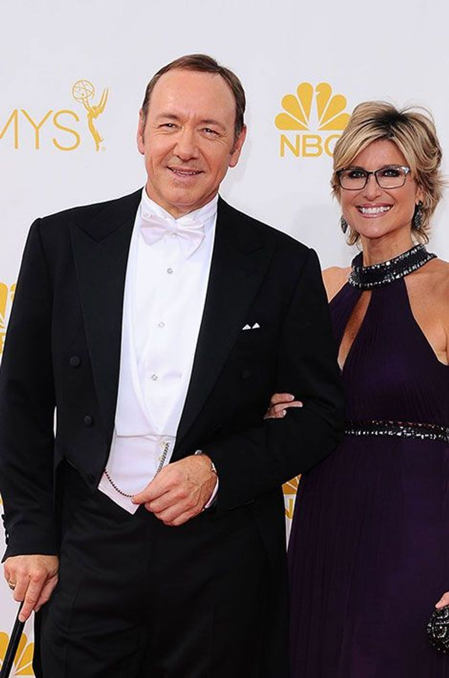 Ashleigh Banfield et Kevin Spacey aux Emmy Awards 2014
