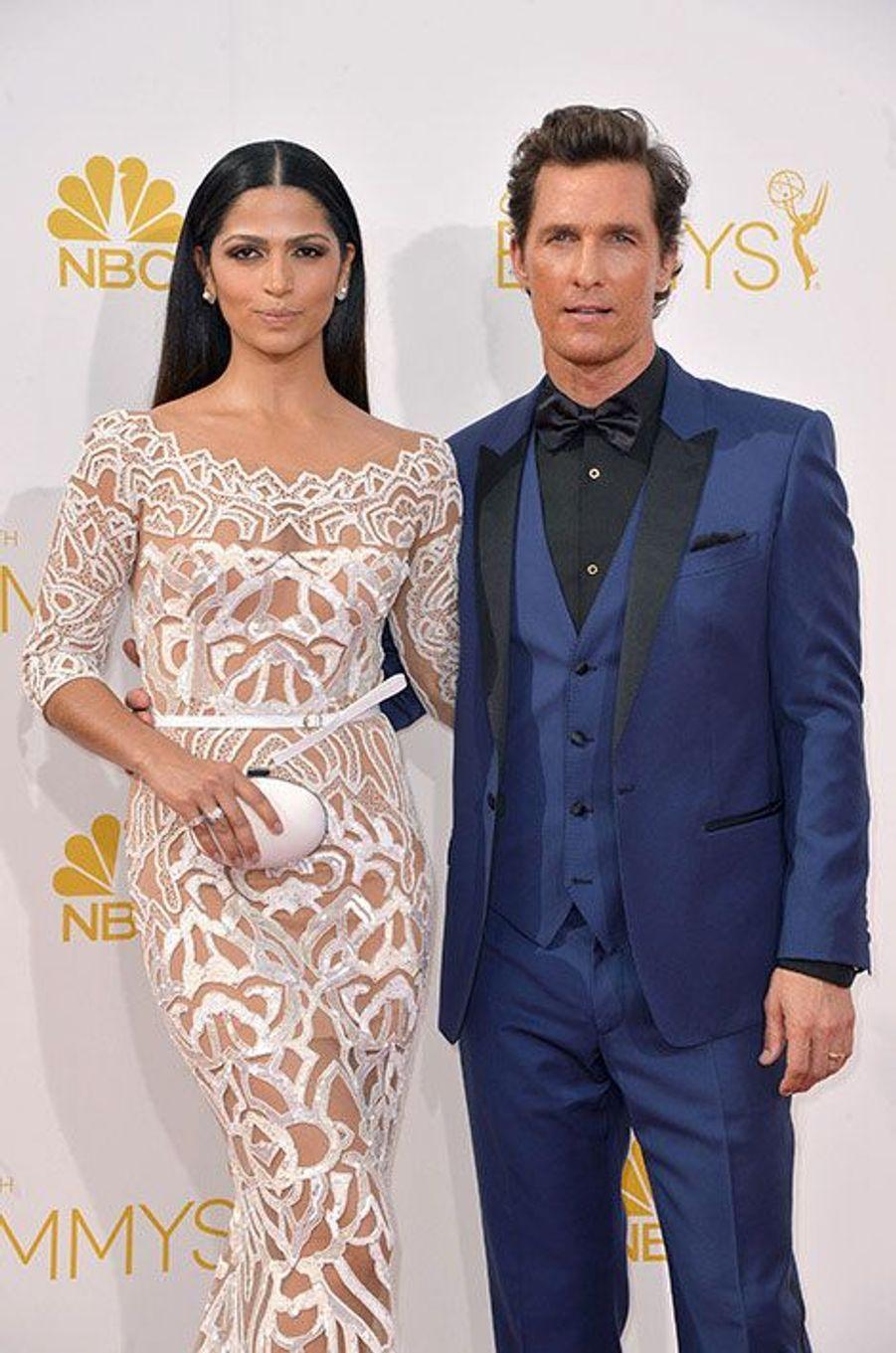 Camila Alves et Matthew McConaughey aux Emmy Awards 2014