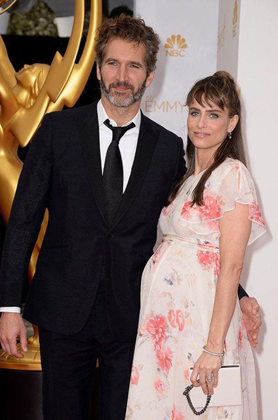 David Benioff et Amanda Peet aux Emmy Awards 2014