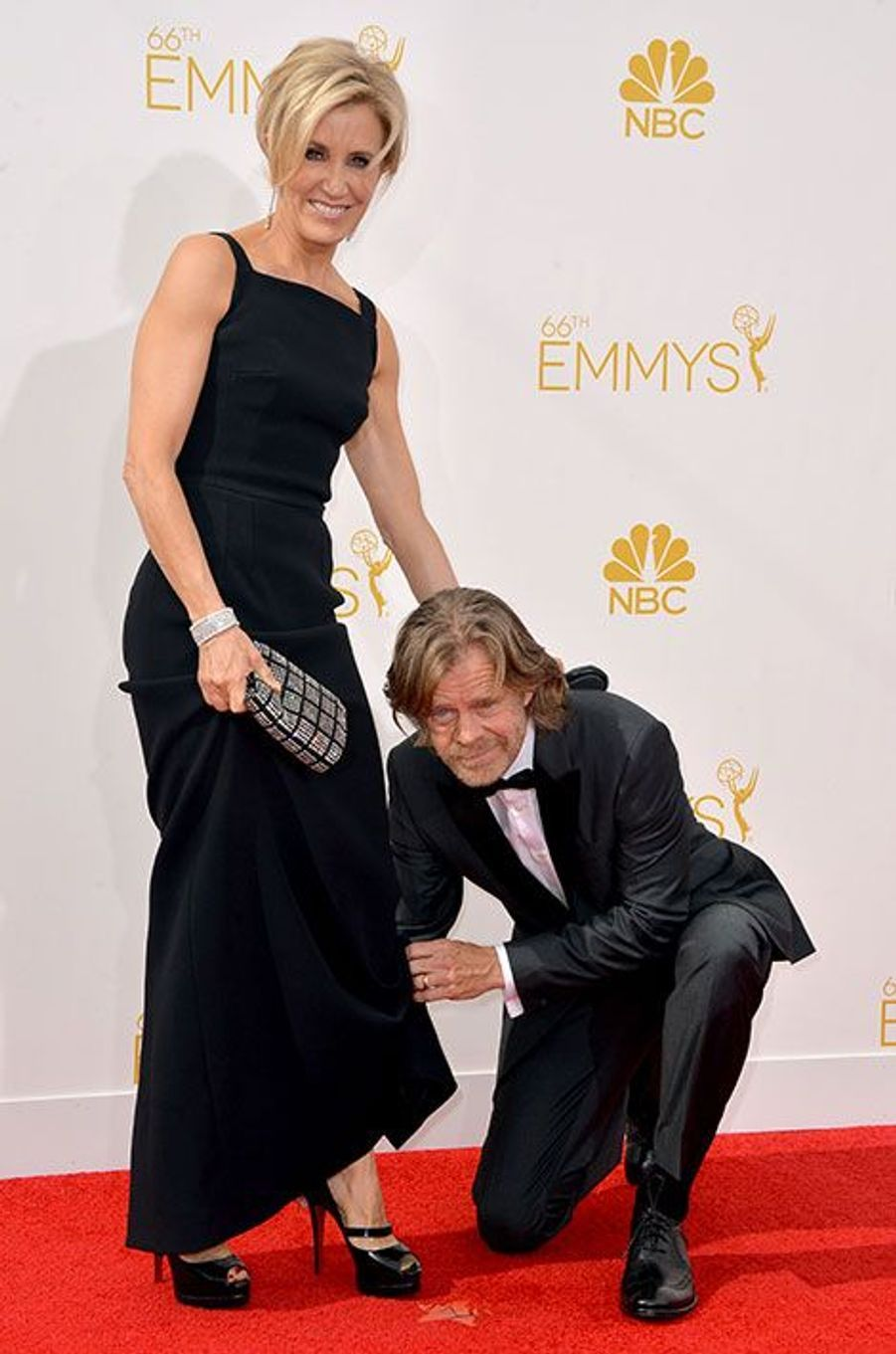 Felicity Huffman et William H. Macy aux Emmy Awards 2014