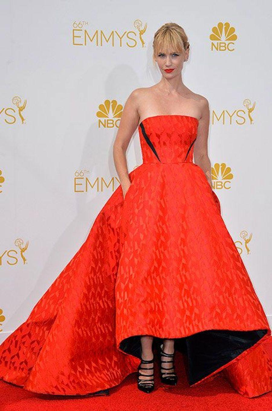 January Jones aux Emmy Awards 2014