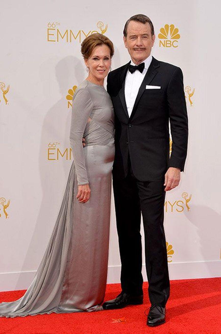 Robin Dearden et Bryan Cranston aux Emmy Awards 2014