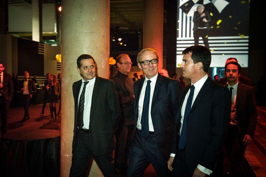 Bertrand Meheut et Manuel Valls aux 30 ans de Canal+