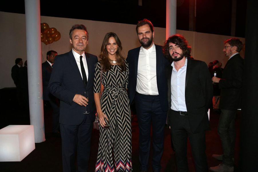Michel Denisot, Ophélie Meunier, Quentin et Eric aux 30 ans de Canal+