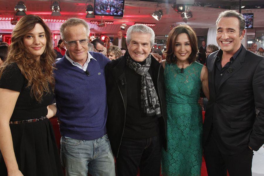 """L'équipe du film """"Un + Une"""" dans """"Vivement Dimanche"""""""