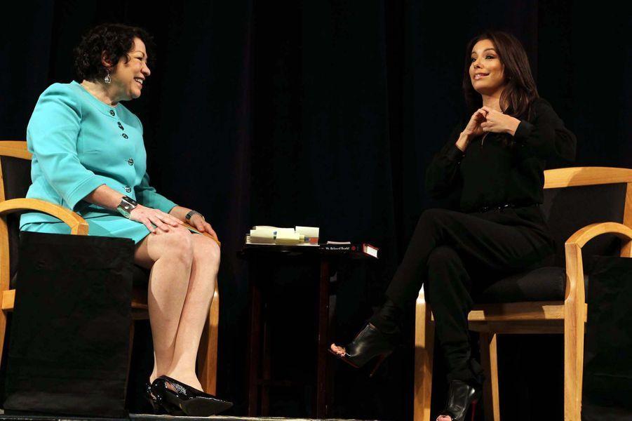 A Los Angeles le 26 janvier 2013 avec Sonia Sotomayor de la Cour Suprême de Justice Américaine