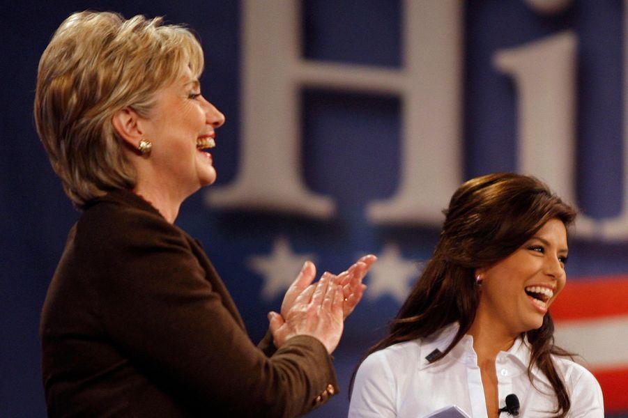 Engagement politique auprès de la démocrate Hillary Clinton lors d'un meeting au Texas le 3 mars 2008