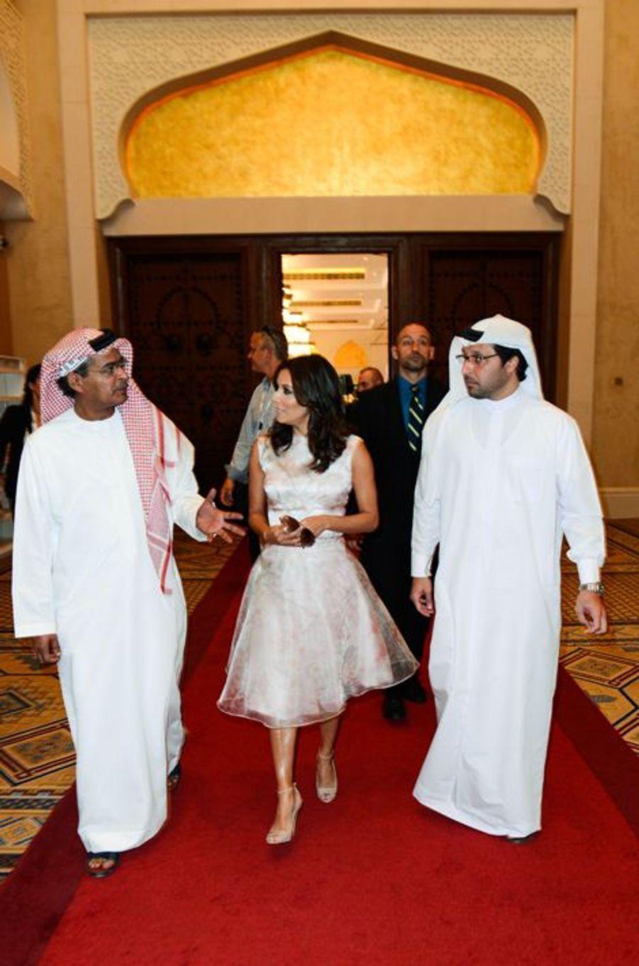 """Eva Longoria à Dubaï pour le gala """"Global Gift"""" donné lors du Dubaï International Film Festival en décembre 2014"""