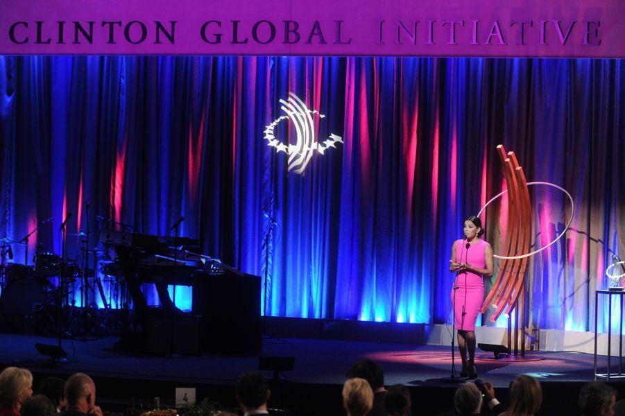 Eva Longoria le 21 septembre 2014 lors des Clinton Global Citizen Awards à New York