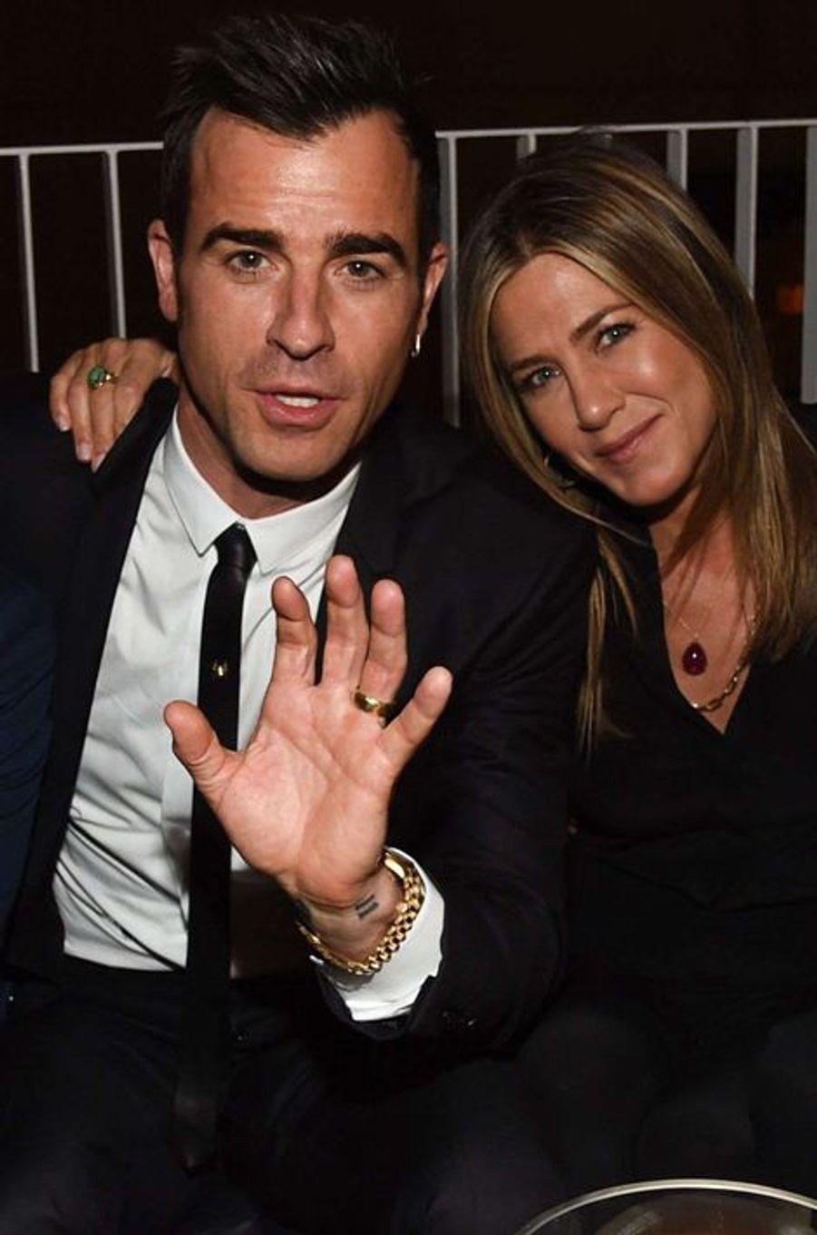 Justin Theroux et Jennifer Aniston à Austin le 3 octobre 2015