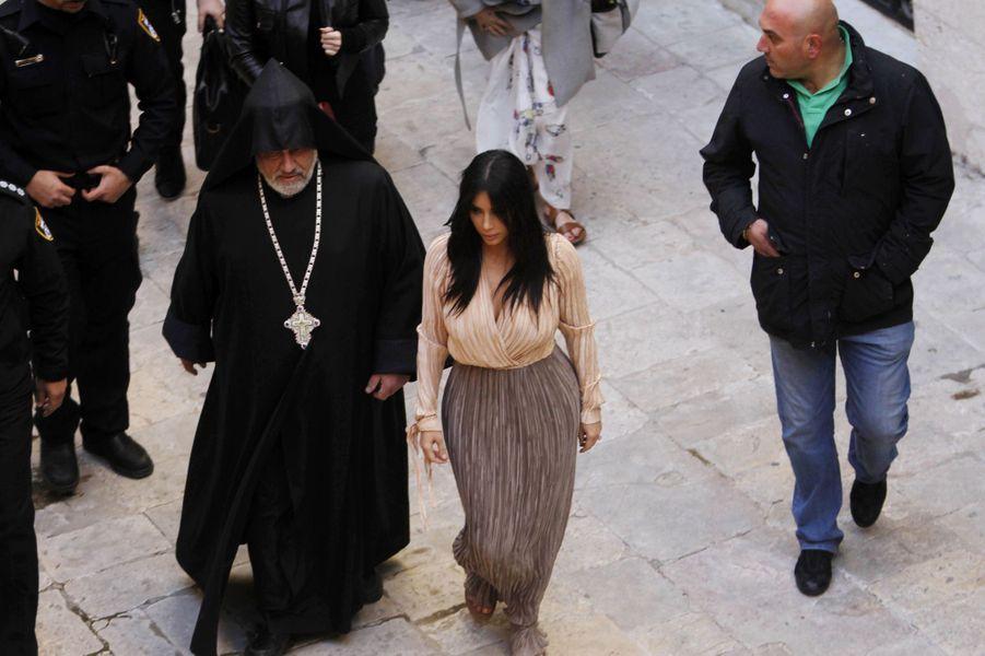 Kim Kardashian à Jérusalem le 12 avril 2015