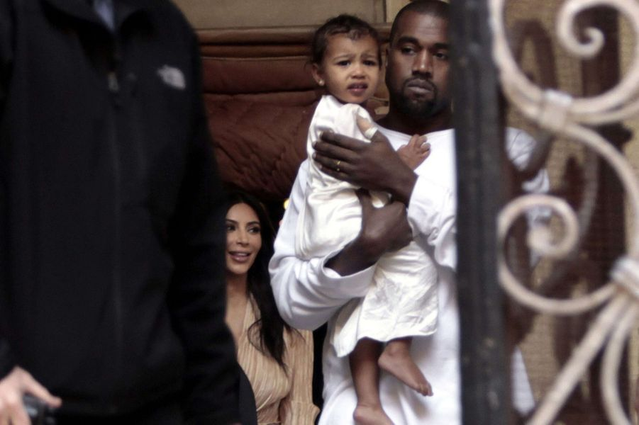 Kim Kardashian, Kanye West et leur fille North à Jérusalem le 12 avril 2015