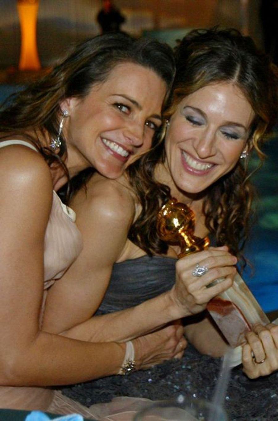 Aux Golden Globes Awards 2004, en compagnie de Sarah Jessica Parker