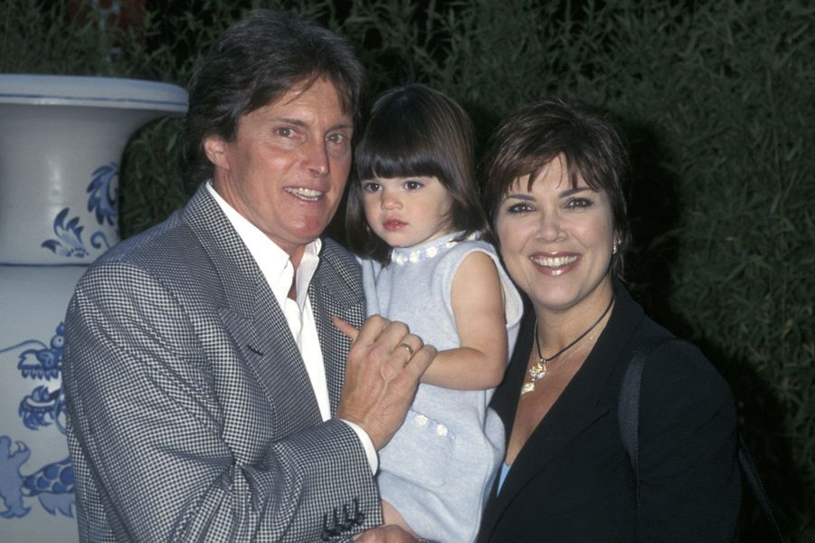 En 1998, avec son ex-mari, Bruce Jenner (aujourd'hui devenue Caitlyn) et leur fille Kylie