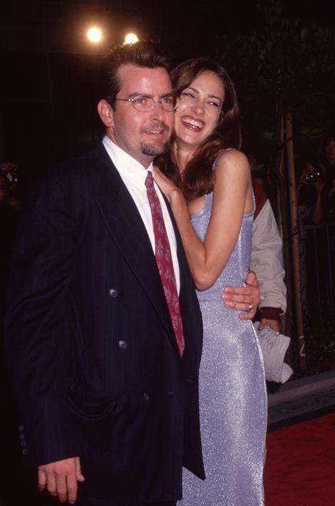 Avec Donna Peele, sa première épouse. Le couple avait divorcé après un an d'union, en 1996.