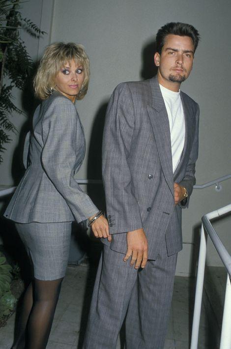 Avec l'actrice américaine Cathy St. George, en 1988.