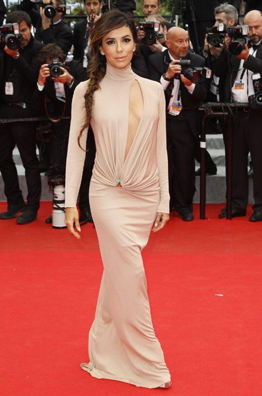 """En robe Vionnet à l'avant-première du film """"Foxcatcher"""", le 19 mai 2014 à Cannes"""