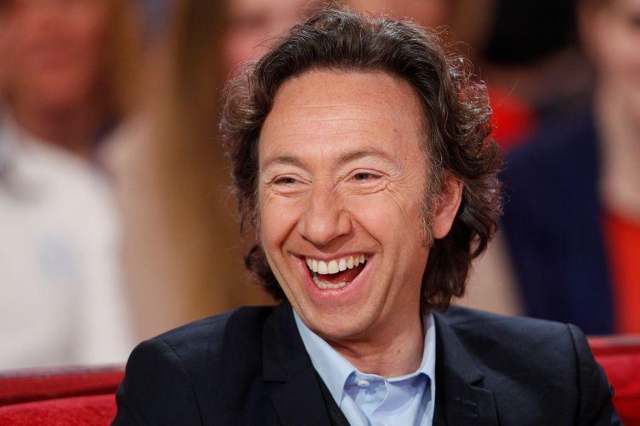 """Stéphane Bern lors de l'enregistrement de """"Vivement Dimanche"""", le 18 février 2015"""