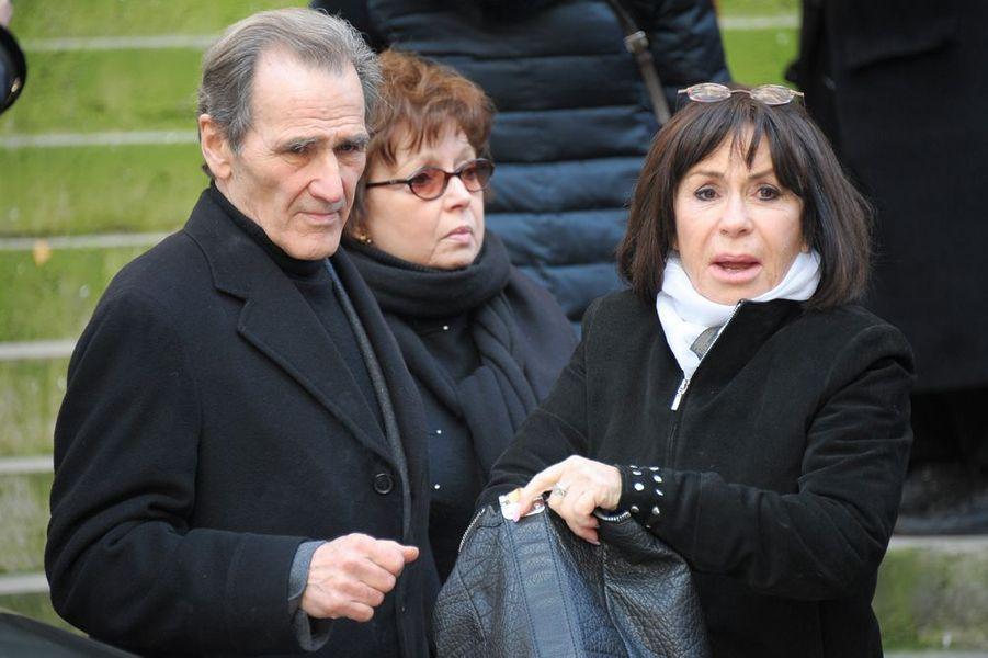 André Matheron et Danièle Évenou à l'église Saint-Roch de Paris