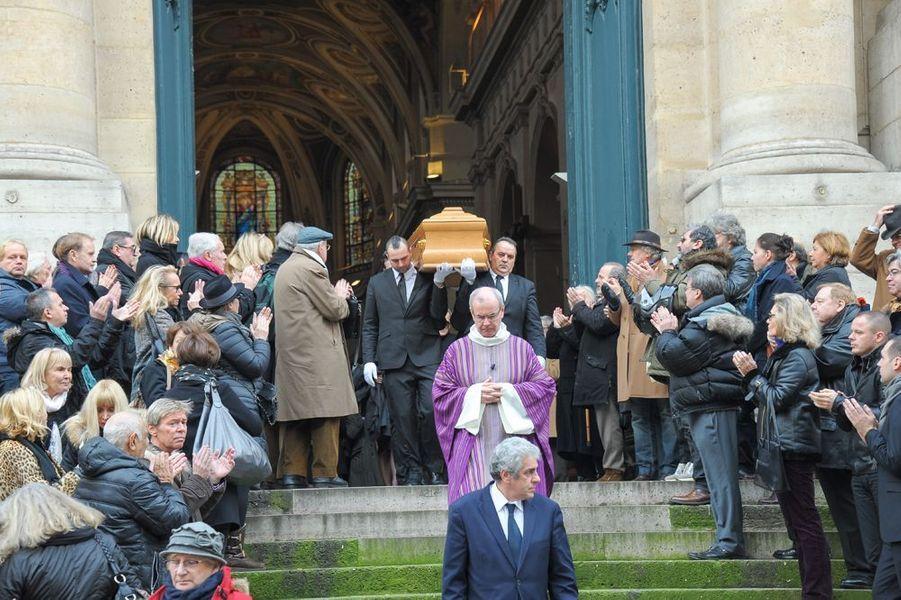 Obsèques de Corinne Le Poulain à l'église Saint-Roch de Paris