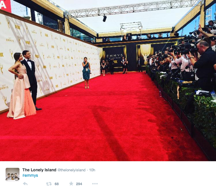 Le défilé du tapis rouge et les photographes vus par les stars américaines du petit écran.