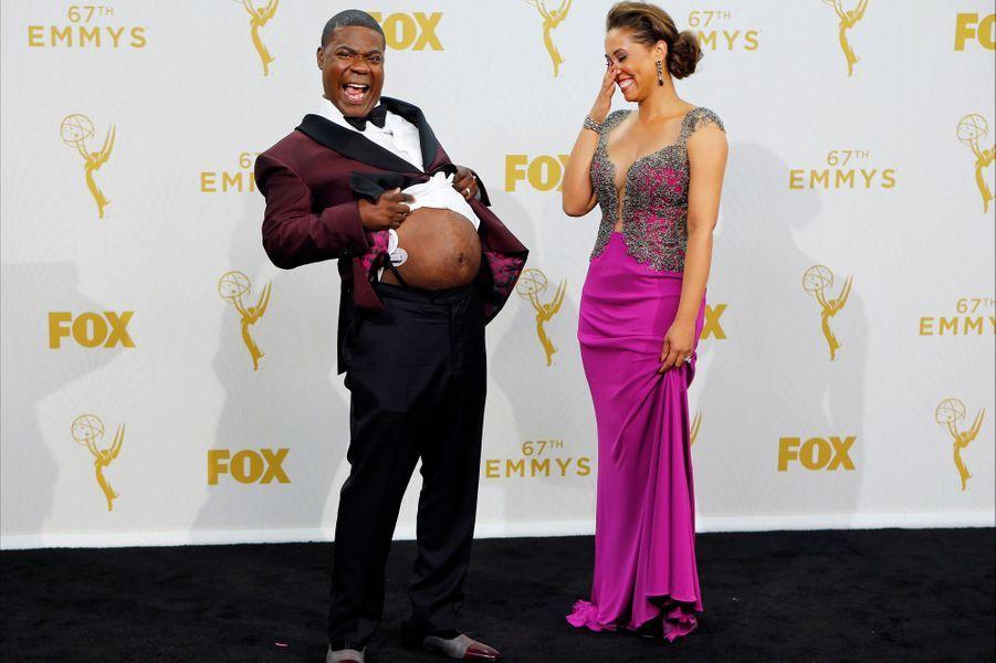Tracy Morgan revient aux Emmys après une année d'absence : l'acteur avait été victime d'un très grave accident de voiture.